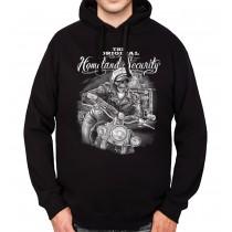 Skeleton Rider Motorbike Mens Hoodie