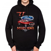 Ford Mustang 1977 Classic Car Mens Hoodie S-3XL