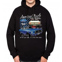 Ford Mustang 1967 Classic Car Mens Hoodie S-3XL