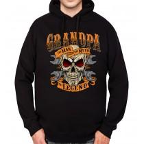 Grandpa Skull Mens Hoodie S-3XL