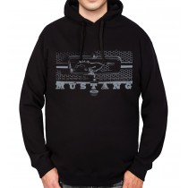 Ford Mustang Grille Mens Hoodie S-3XL