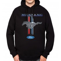 Ford Mustang Logo Mens Hoodie S-3XL