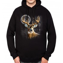 Whitetail Deer Hunting Mens Hoodie S-3XL