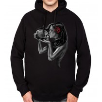Kiss Of Death Skull Mens Hoodie S-3XL