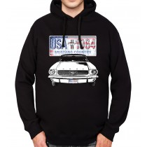 Ford Mustang Country Mens Hoodie S-3XL