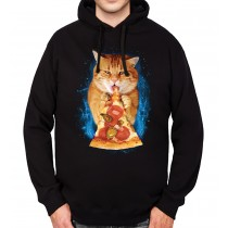 Pizza Cat Pepperoni Mens Hoodie S-3XL