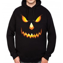 Pumpkin Head Halloween Horror Mens Hoodie S-3XL