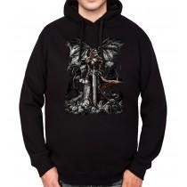 Grave Reaper Skull Sword Mens Hoodie S-3XL