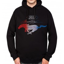 Ford Mustang Colourful Logo Mens Hoodie S-3XL
