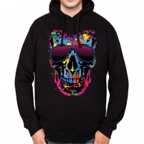 Skull Glasses Fashion Party Mens Hoodie S-3XL