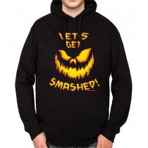 Halloween Pumpkin Jack-o'-lantern Mens Hoodie S-3XL