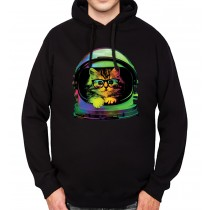 Space Cat Funny Mens Hoodie S-3XL