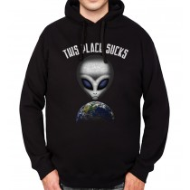 Alien UFO Earth Mens Hoodie S-3XL