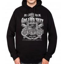 Whiskey Motorbike Mens Hoodie S-3XL