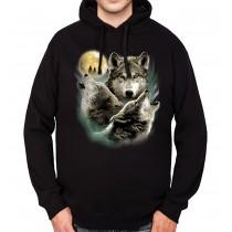 Wolves Horde Wolf Moon Mens Hoodie S-3XL