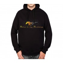 Ford Mustang Grille Gold Logo Mens Hoodie S-3XL