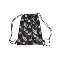 Handmade Drawstring Backpack Waterproof Bag Sport Travel Hiking Flowers