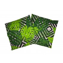 Handmade Pillow Case 100% Cotton 40x40cm Set of 2 Green Leaf