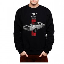 Mustang 50 Years Classic Car Logo Men Sweatshirt S-3XL New