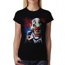 Joker Clown Face Women T-shirt S-3XL New