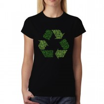 Recycle Sign Clean Earth Womens T-shirt XS-3XL