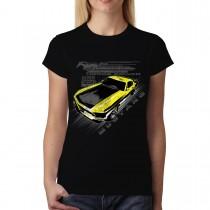 Mustang Yellow Boss 302 Women T-shirt S-3XL New
