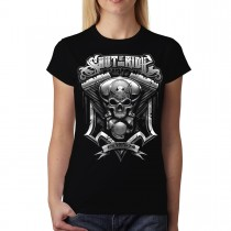 Shut Up & Ride Engine Women T-shirt S-3XL New
