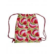 Handmade Drawstring Backpack Waterproof Bag Sport Travel Hiking Watermelon