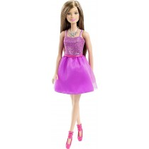 Mattel Barbie Doll Glitz Purple Dress