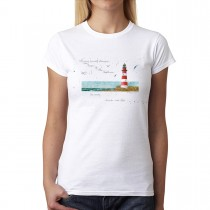 Lighthouse Sea View Women T-shirt XS-3XL New
