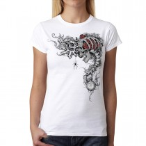 Time Keeper Roses Skull Women T-shirt XS-3XL New