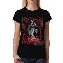 Virgin Mary Rose Jesus Women T-shirt XS-3XL