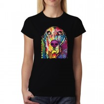 Basset Dachshund Dog Colourful Women T-shirt XS-3XL