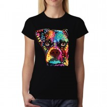Boxer Dog Cubism Women T-shirt XS-3XL