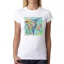 Angelfish Cubism Women T-shirt XS-3XL