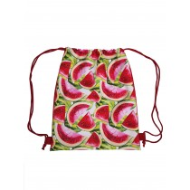 Handmade Drawstring Backpack Waterproof Bag Sport Travel Hiking Watermelon