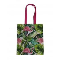 Handmade Eco Shopping Bag Grocery Reusable Design Flamingo