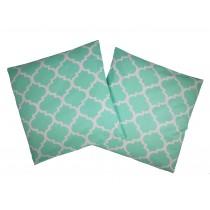 Handmade Pillow Case 100% Cotton 40x40cm Set of 2 Morocco Mint