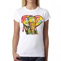 Elephant Cubism Women T-shirt XS-3XL