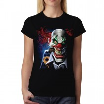 Joker Clown Face Women T-shirt S-3XL New