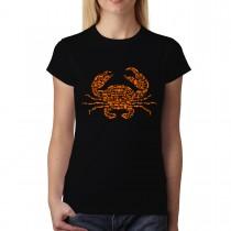 Crab Sea Ocean Womens T-shirt XS-3XL
