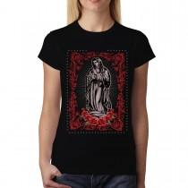 Virgin Mary Rose Jesus Women T-shirt XS-3XL