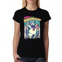Attack of The Marshmallow Monster Women T-shirt XS-3XL