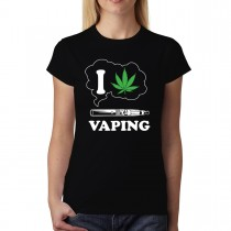 I Love Vaping Cannabis Marijuana Women T-shirt S-3XL New