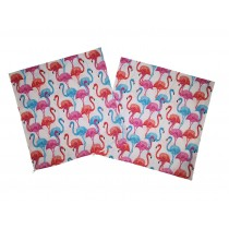 Handmade Pillow Case 100% Cotton 40x40cm Set of 2 Pink Flamingo