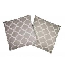 Handmade Pillow Case 100% Cotton 40x40cm Set of 2 Morocco Grey