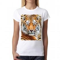 Tiger Wild Eyes Animals Women T-shirt M-3XL New
