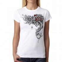 Time Keeper Roses Skull Women T-shirt XS-3XL New