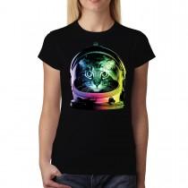Astronaut Space Cat Women T-shirt XS-3XL New