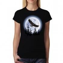 Flying Eagle Dark Night Women T-shirt XS-3XL New